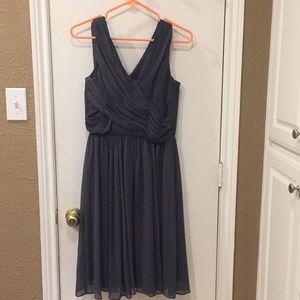 H&M slate grey chiffon dress